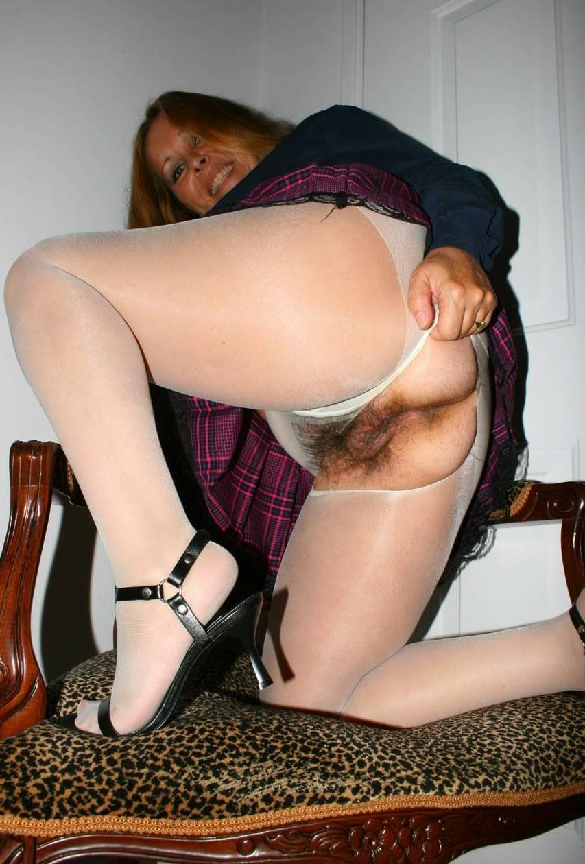 stockings and hairy