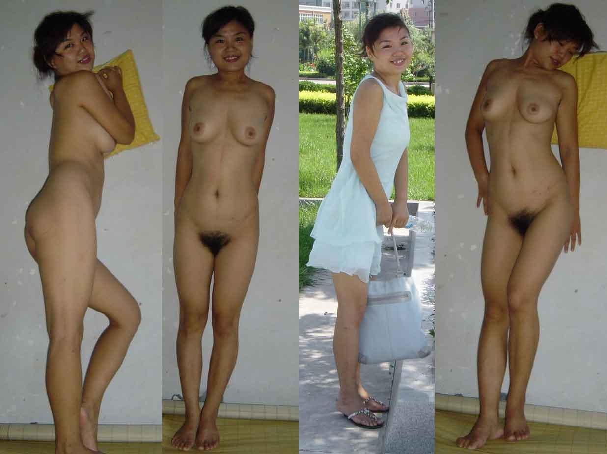Asian wife dressed undressed