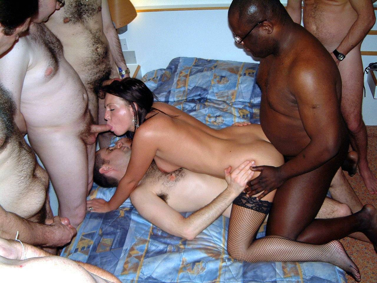 Very amateur black gangbang ass