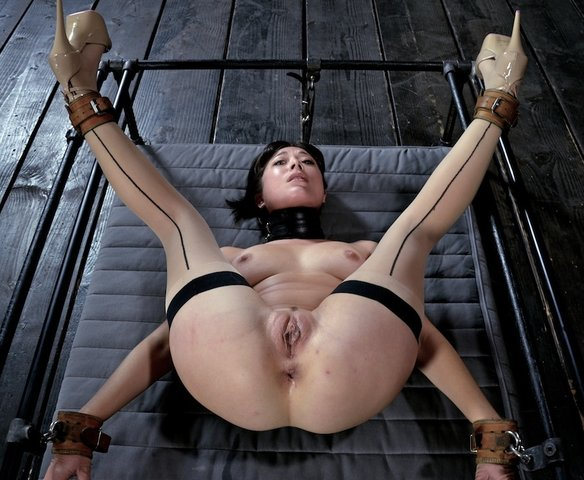 Excellent message Tied legs spread open