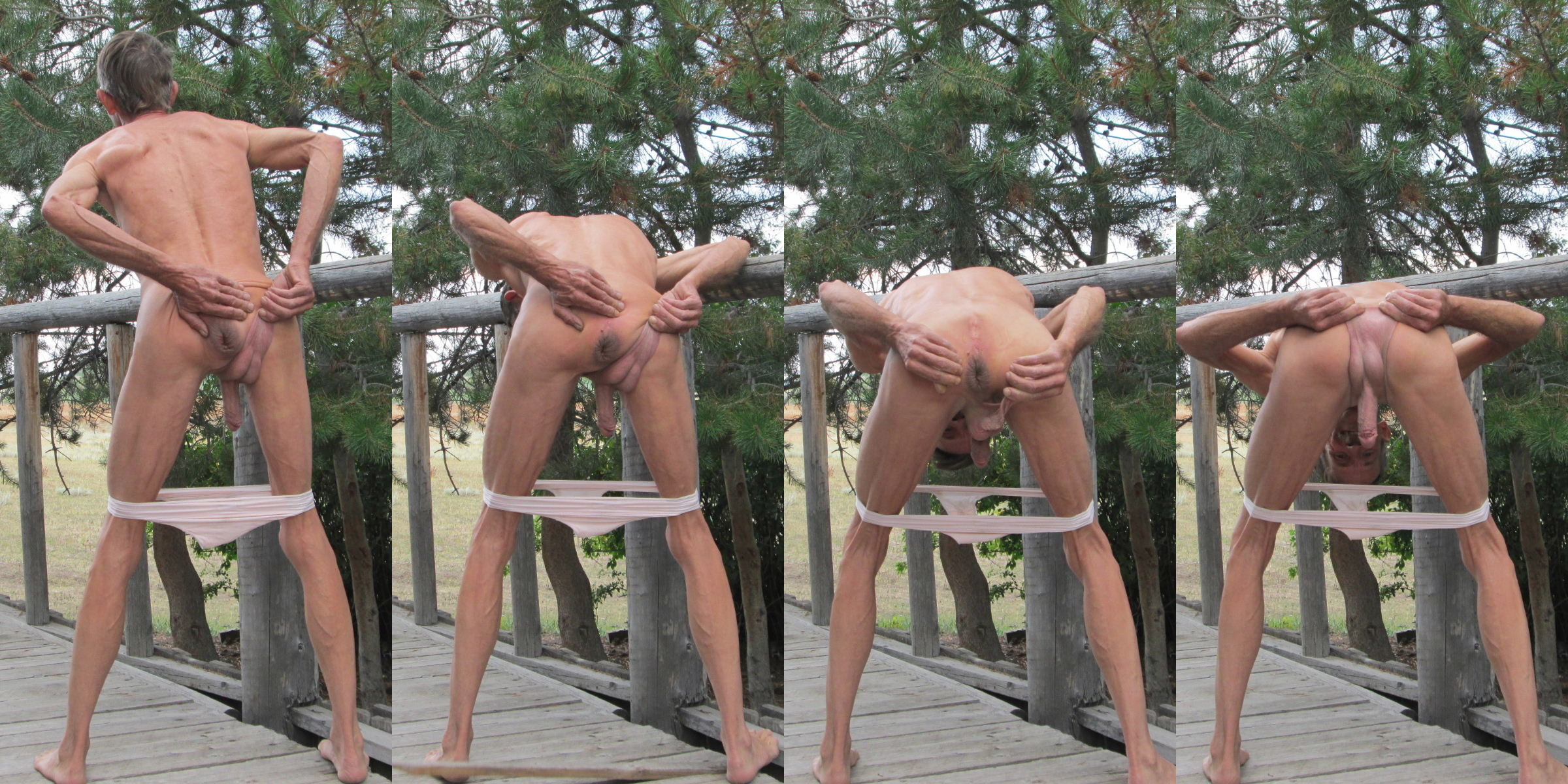 Outdoors in Panties and Fist Fucked In the Ass