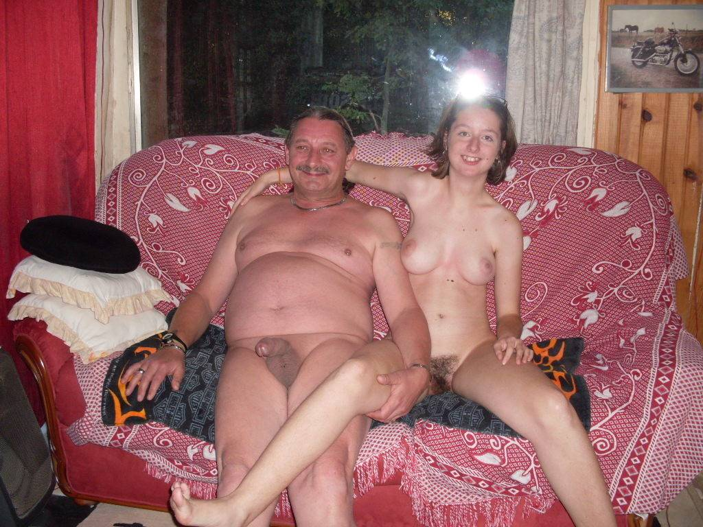 Classic free nudism family