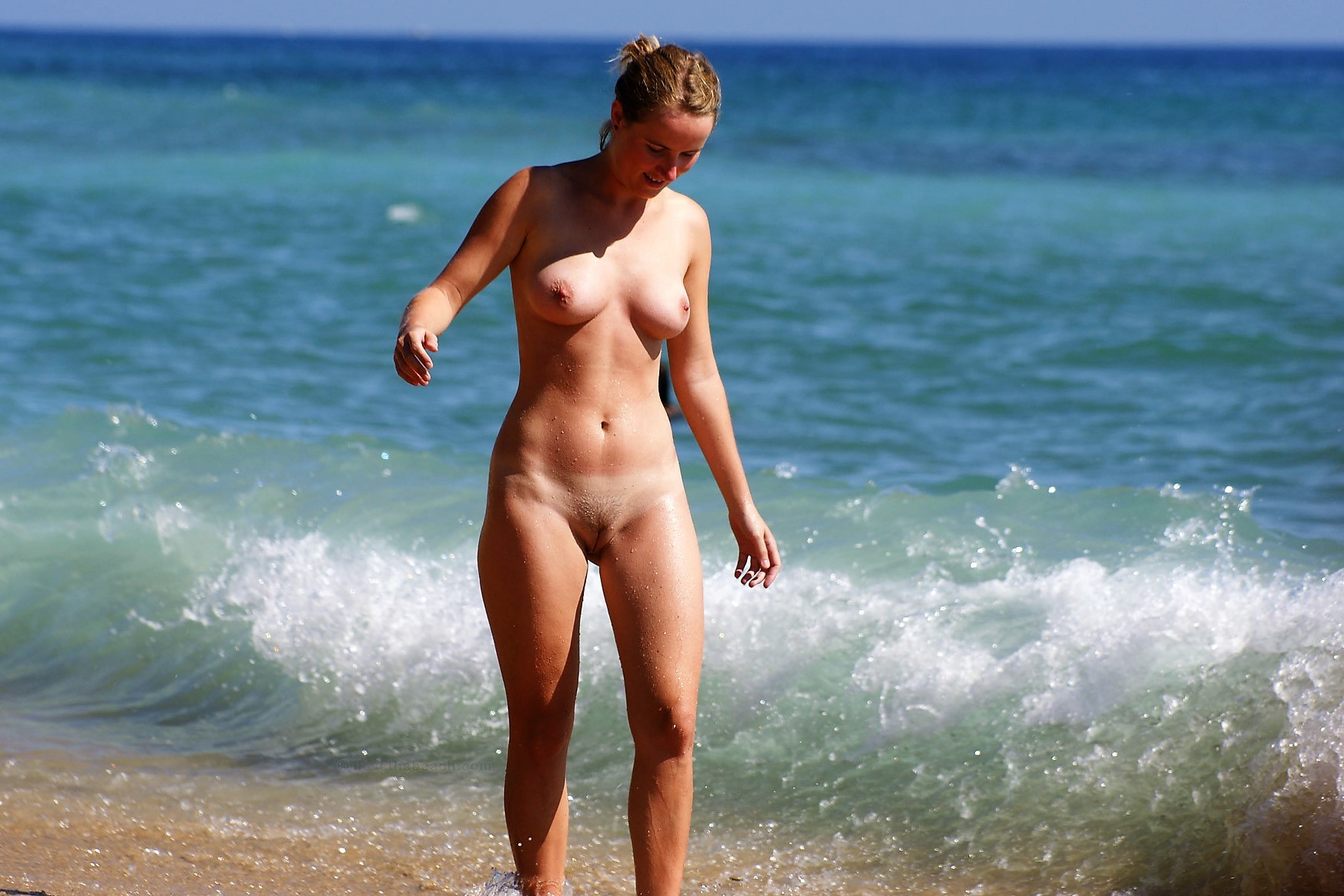 Young naked woman relaxing