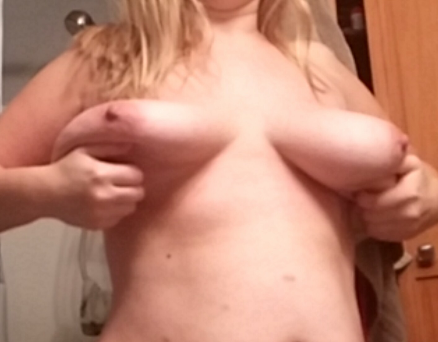 wife's wet pussy and big tits