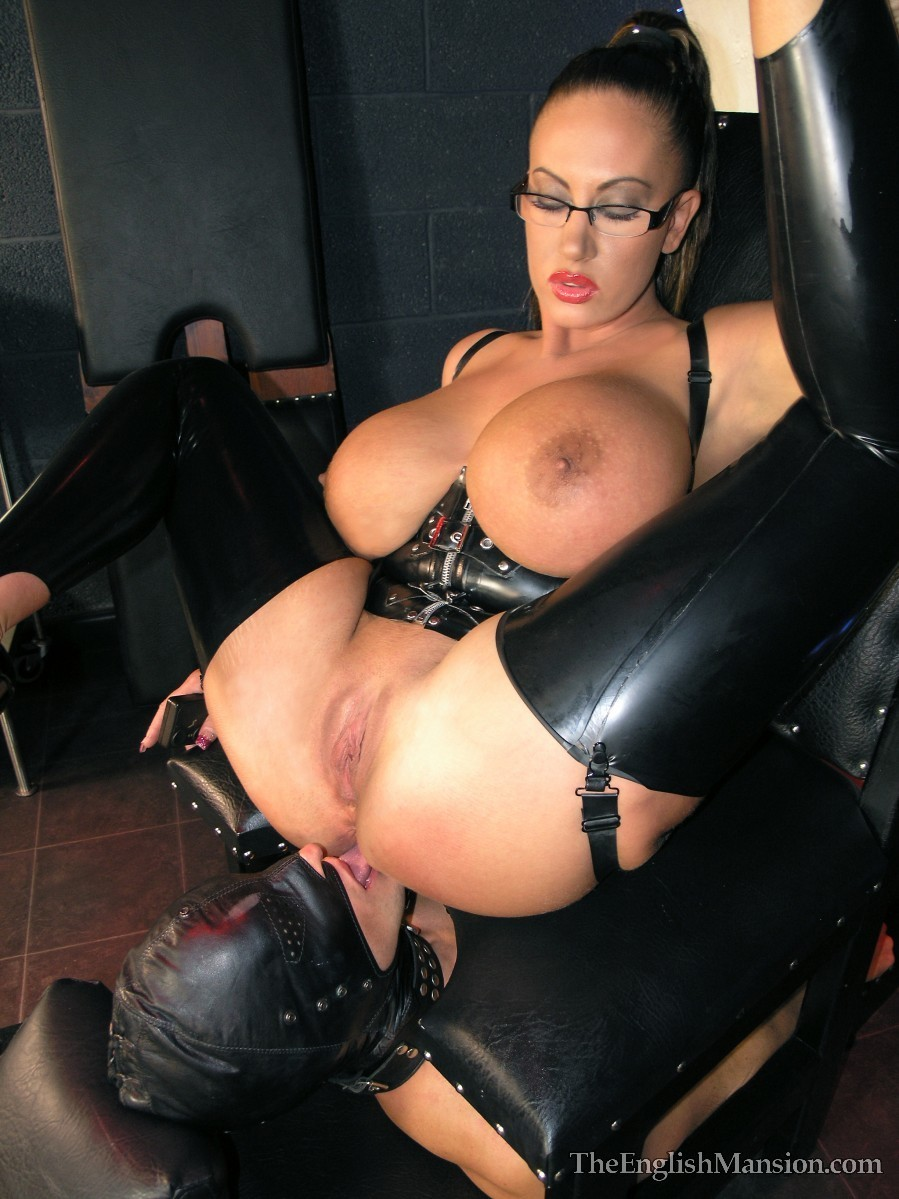 More pvc and rubber glove wank