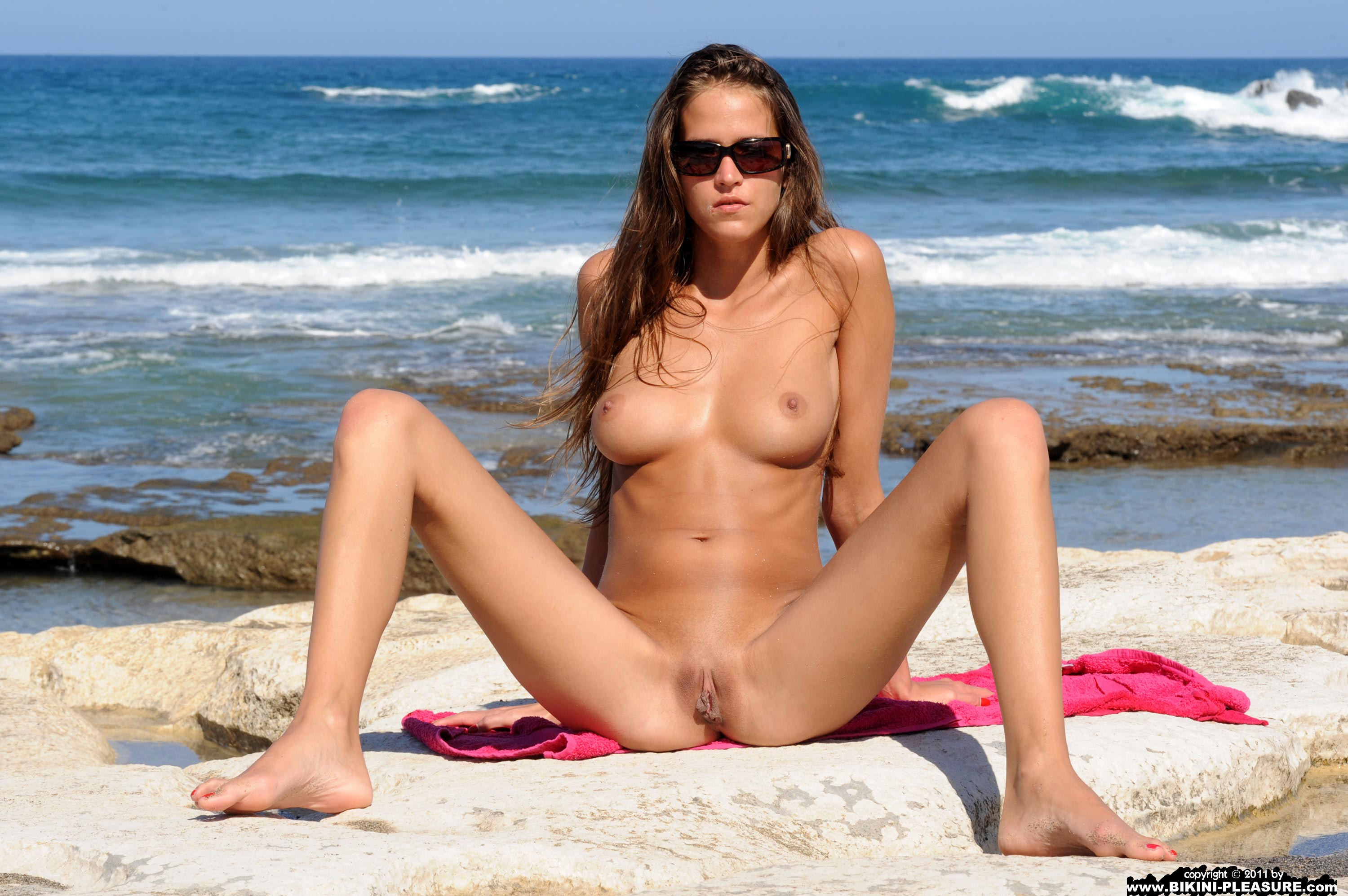 women beaches nude Hot on