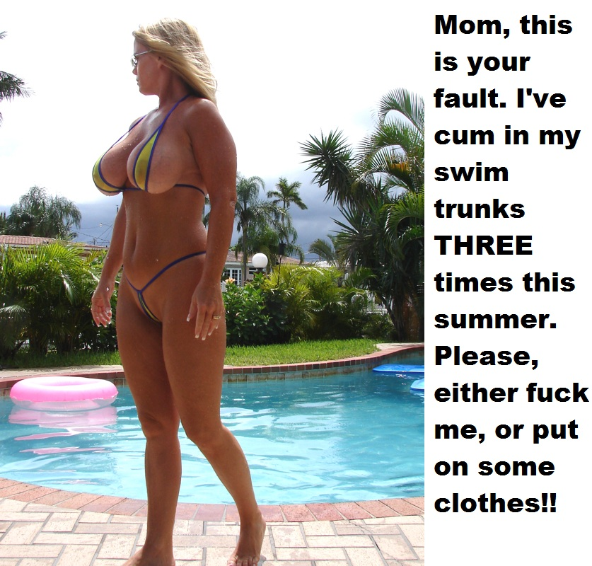 Opinion mature blonde in g string bikini think, that