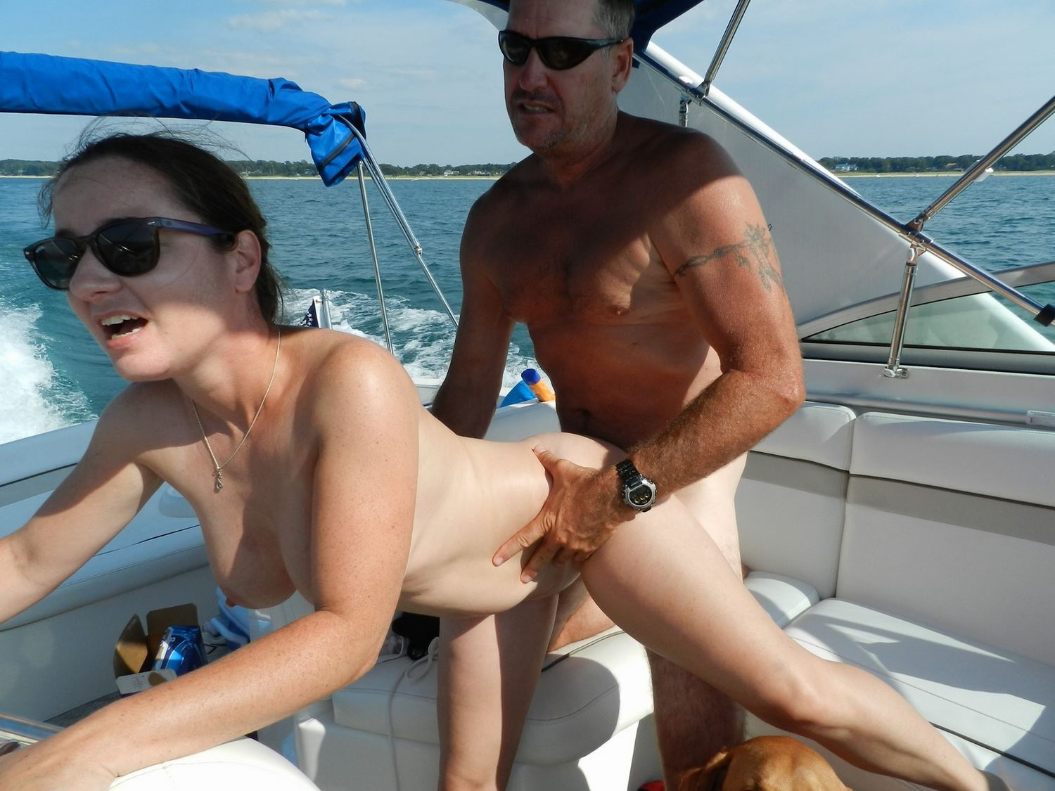 naked mature on boat