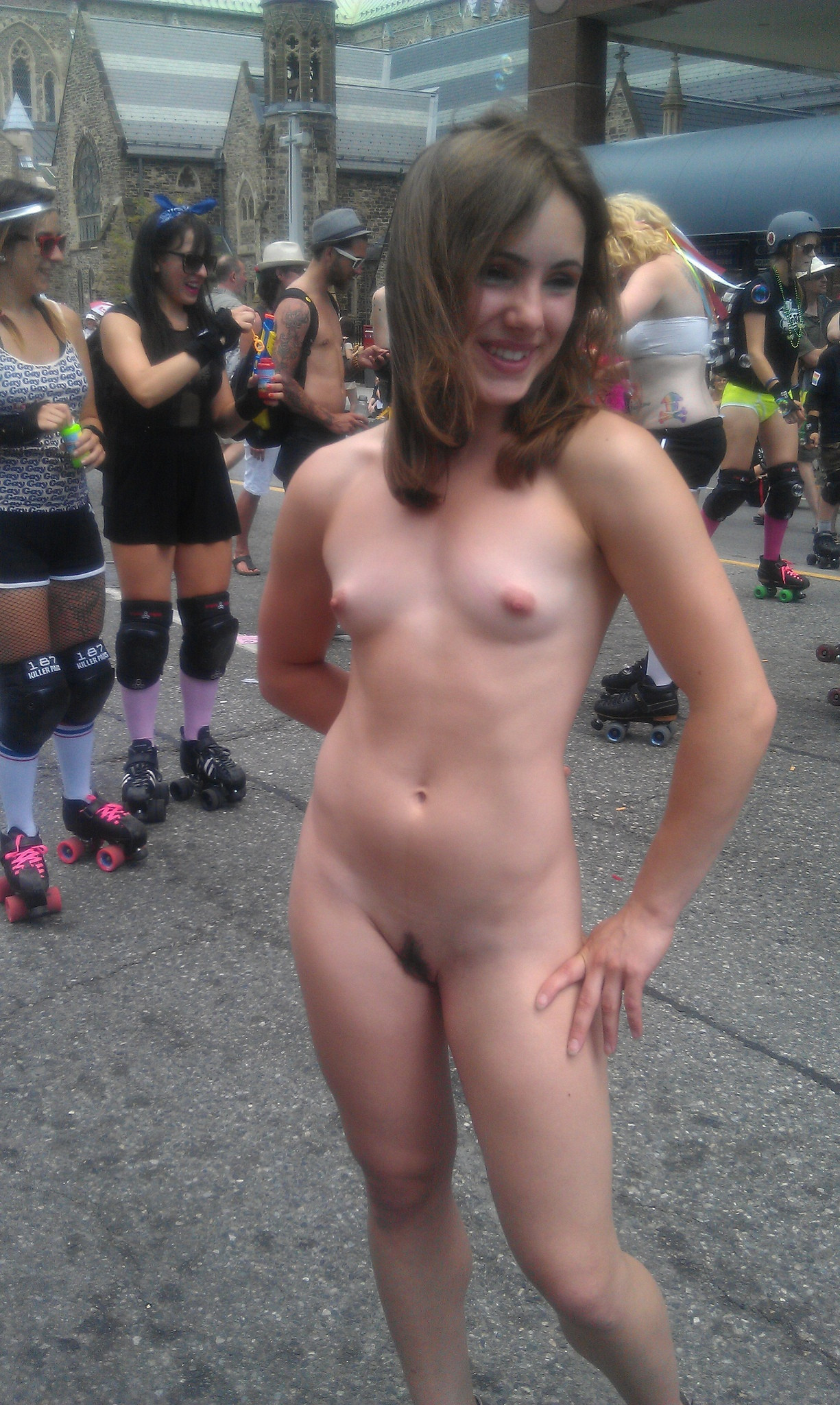 Naked girls in public pics