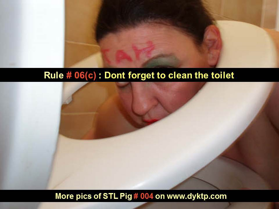 RULE 06 STUPID TOILET LICKER