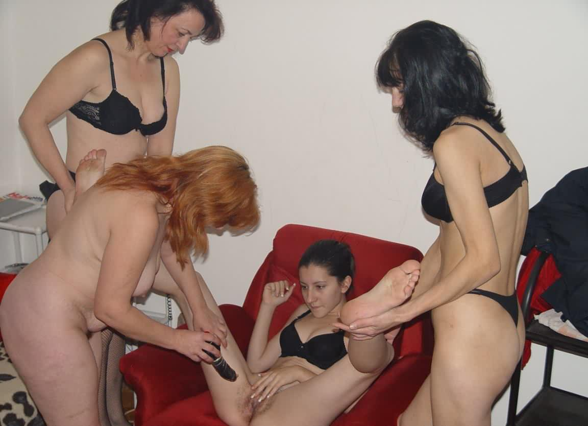 Mom daughters friend lesbian threesome