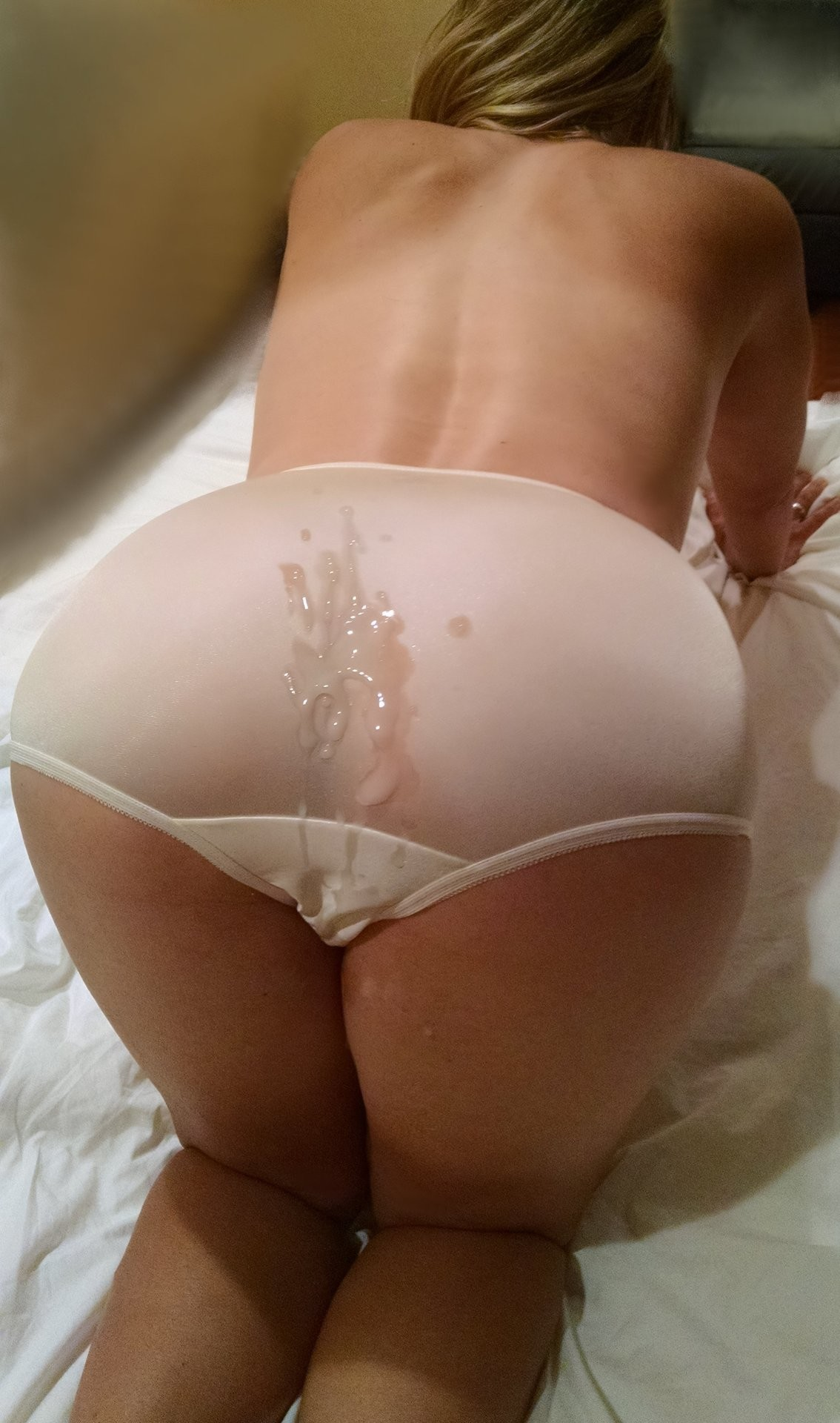 Cum onto panties