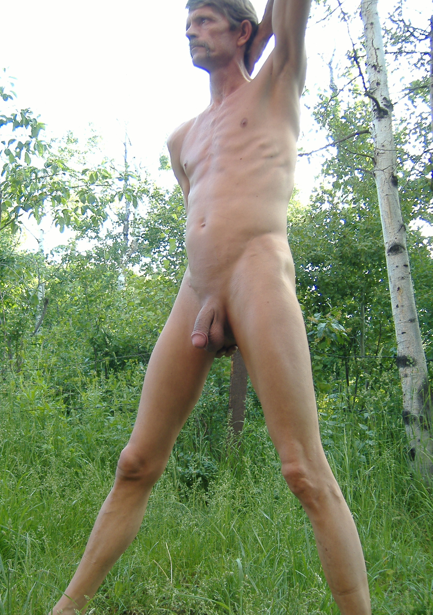 Outdoor shaved and pissing penis watersports