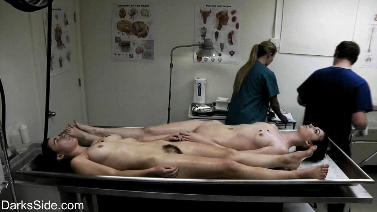 Naked girls in the morgue can