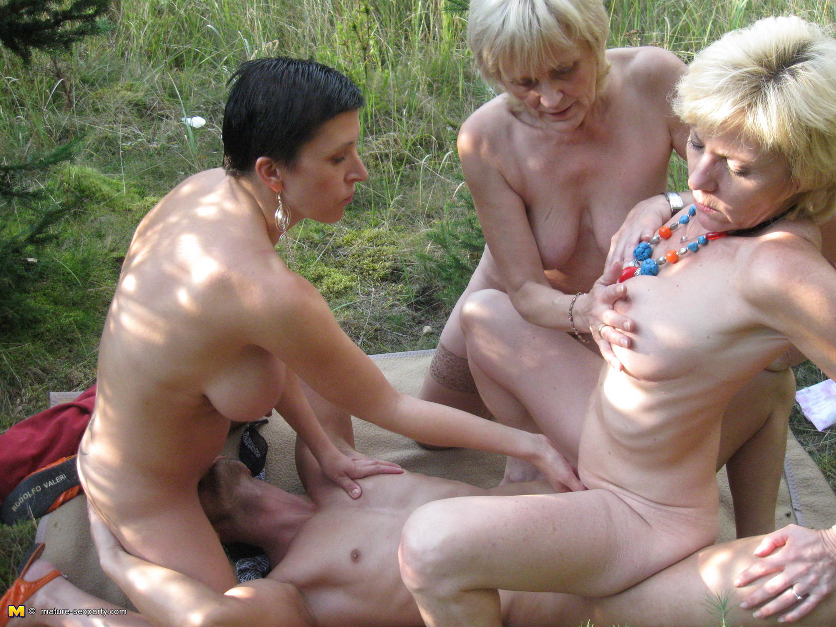 Party milf outdoor sex