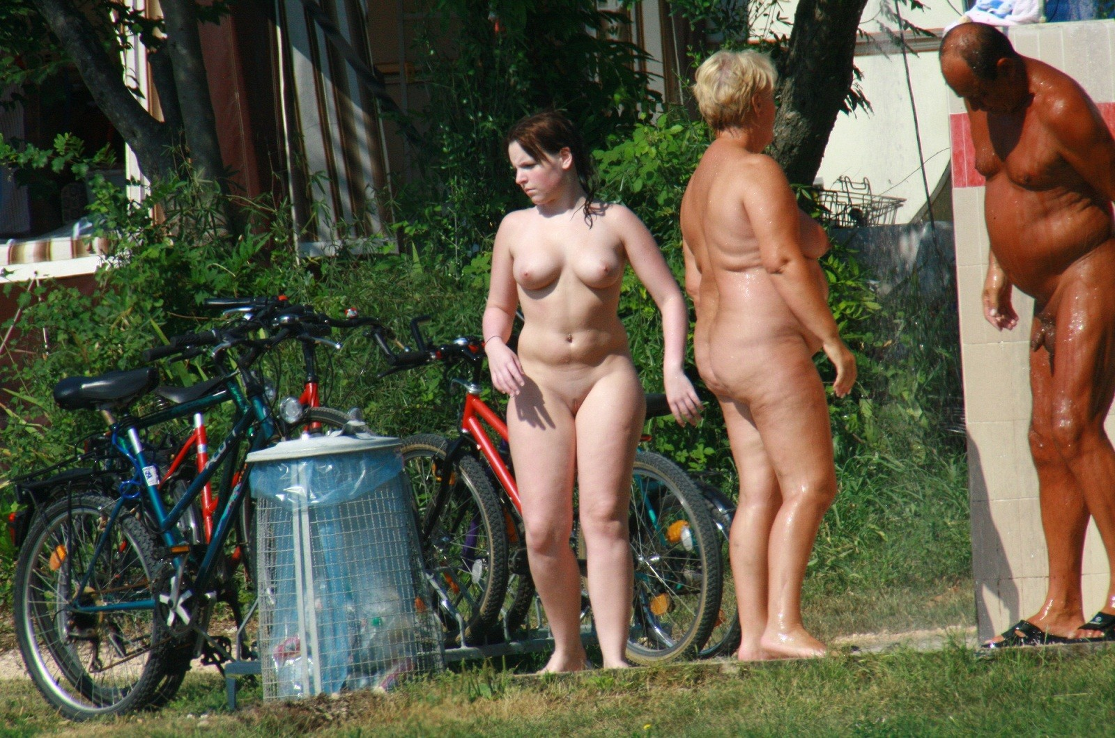 fat family goes nude