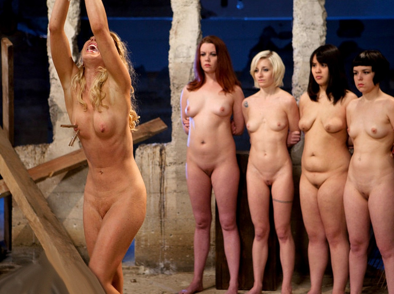 A women naked in pillory hentai gallery