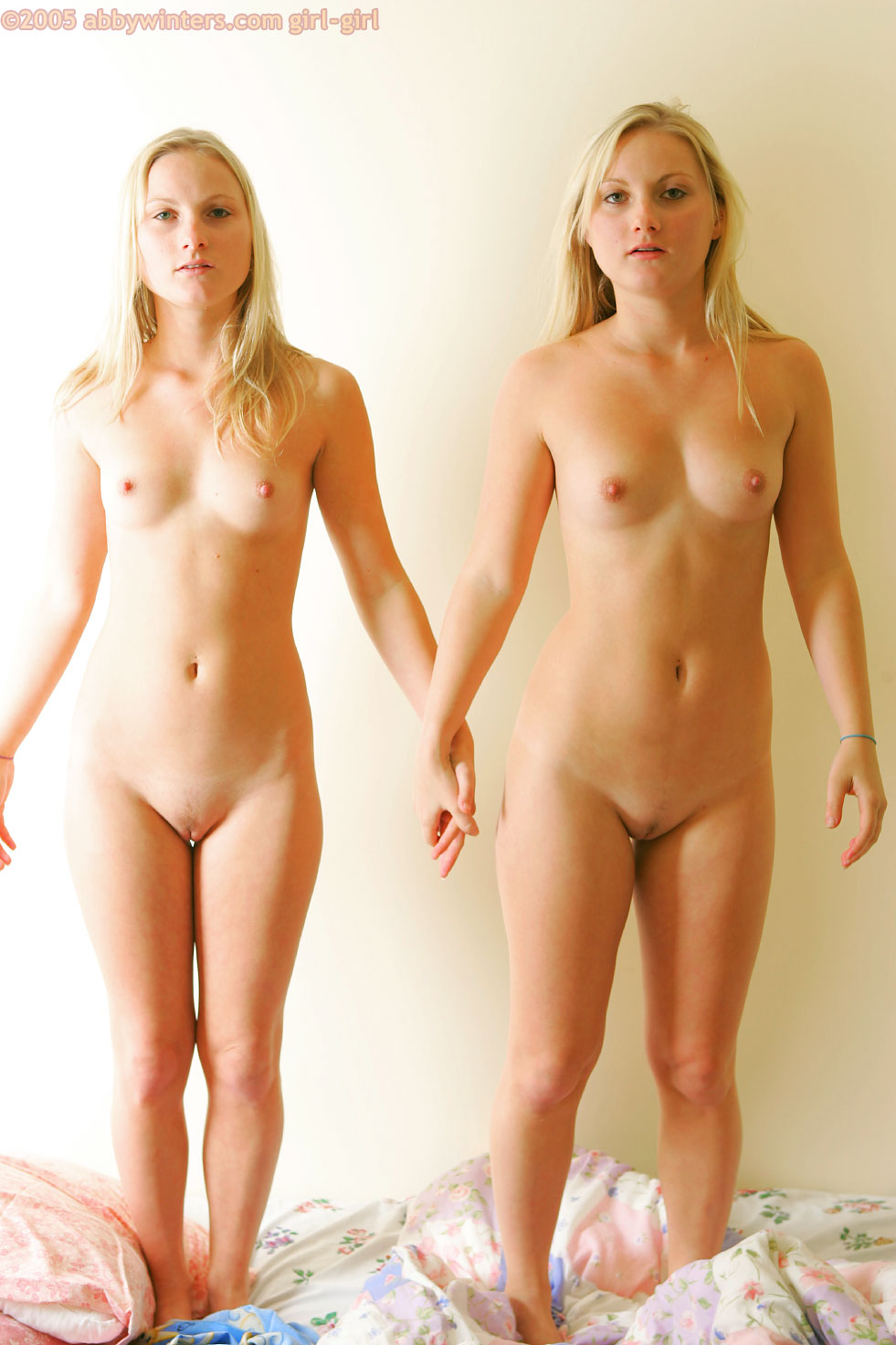 naked women lining up