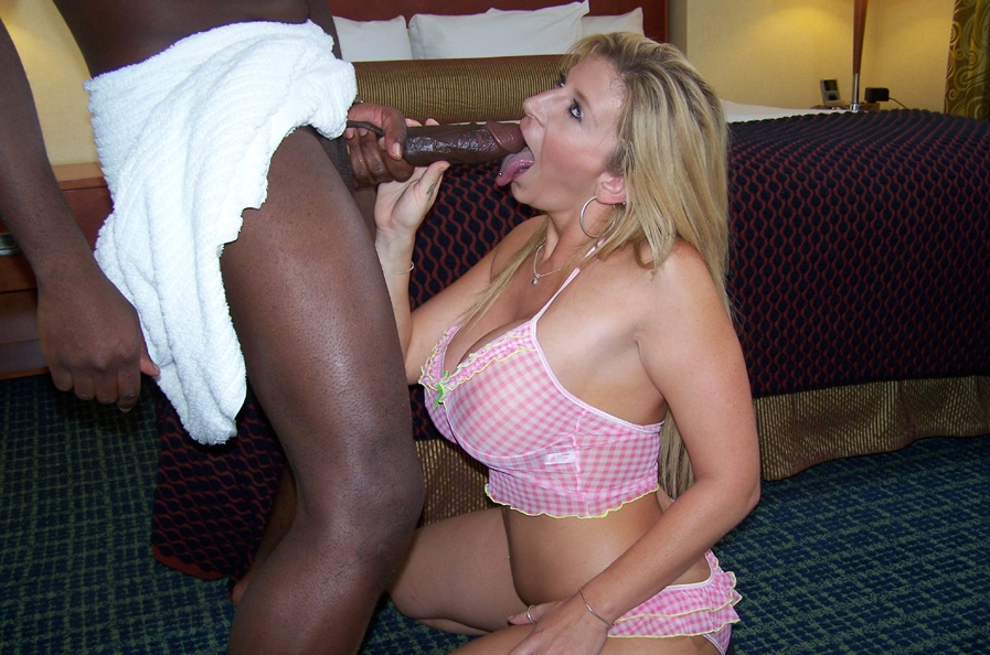 White Girl Sucks Huge Cock