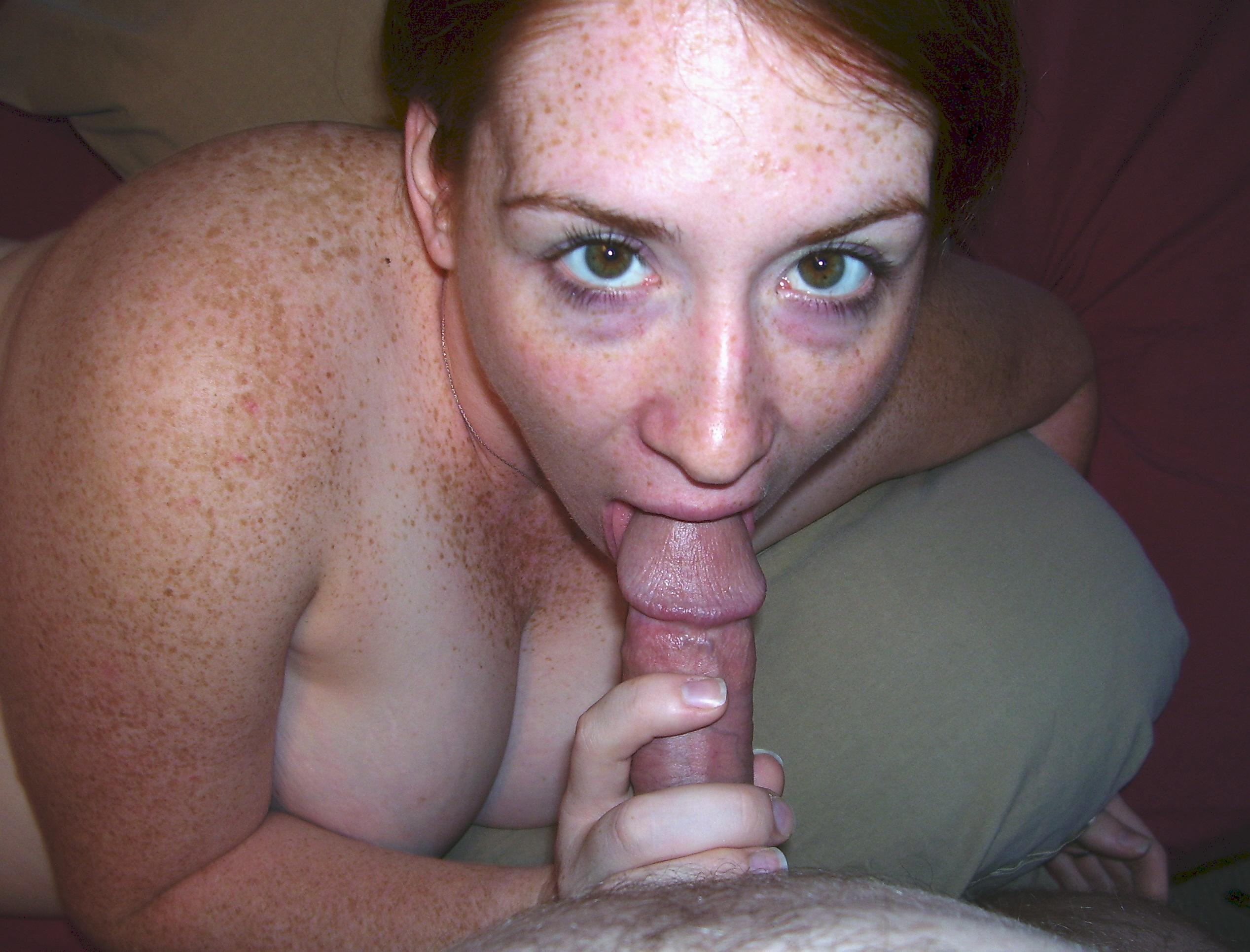 Freckles and blowjob