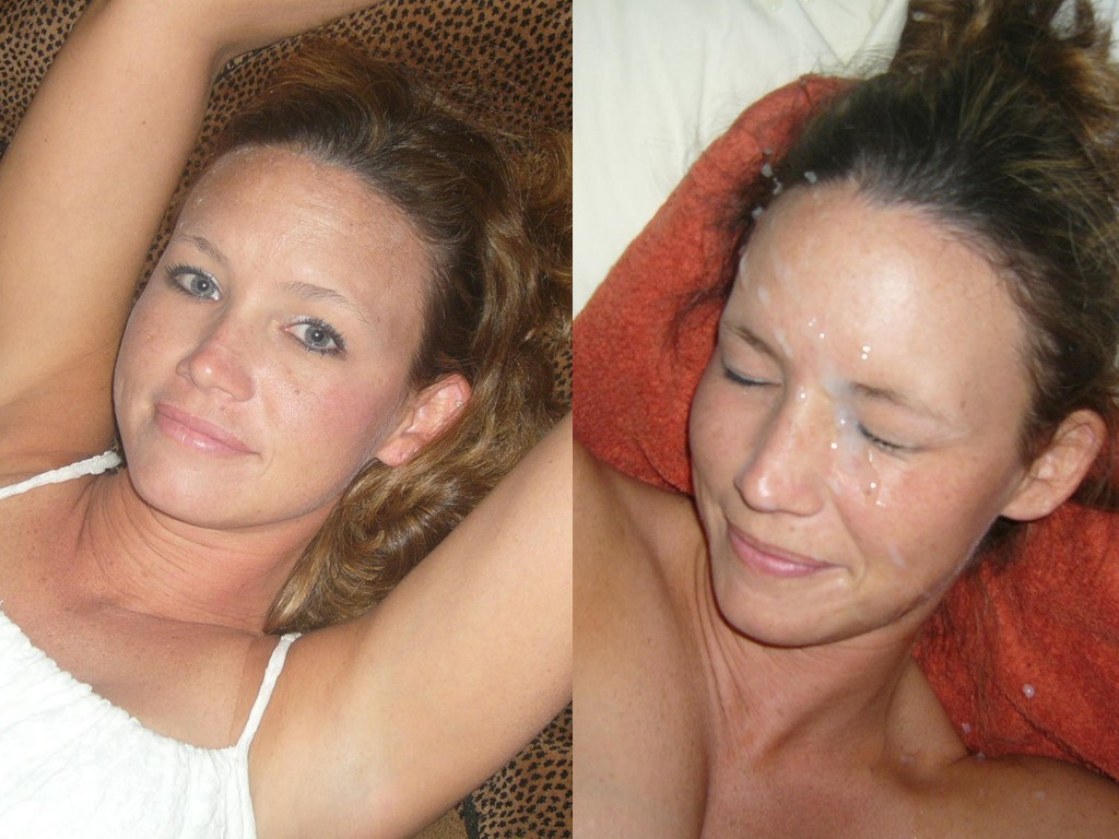amateur wife before and after facial