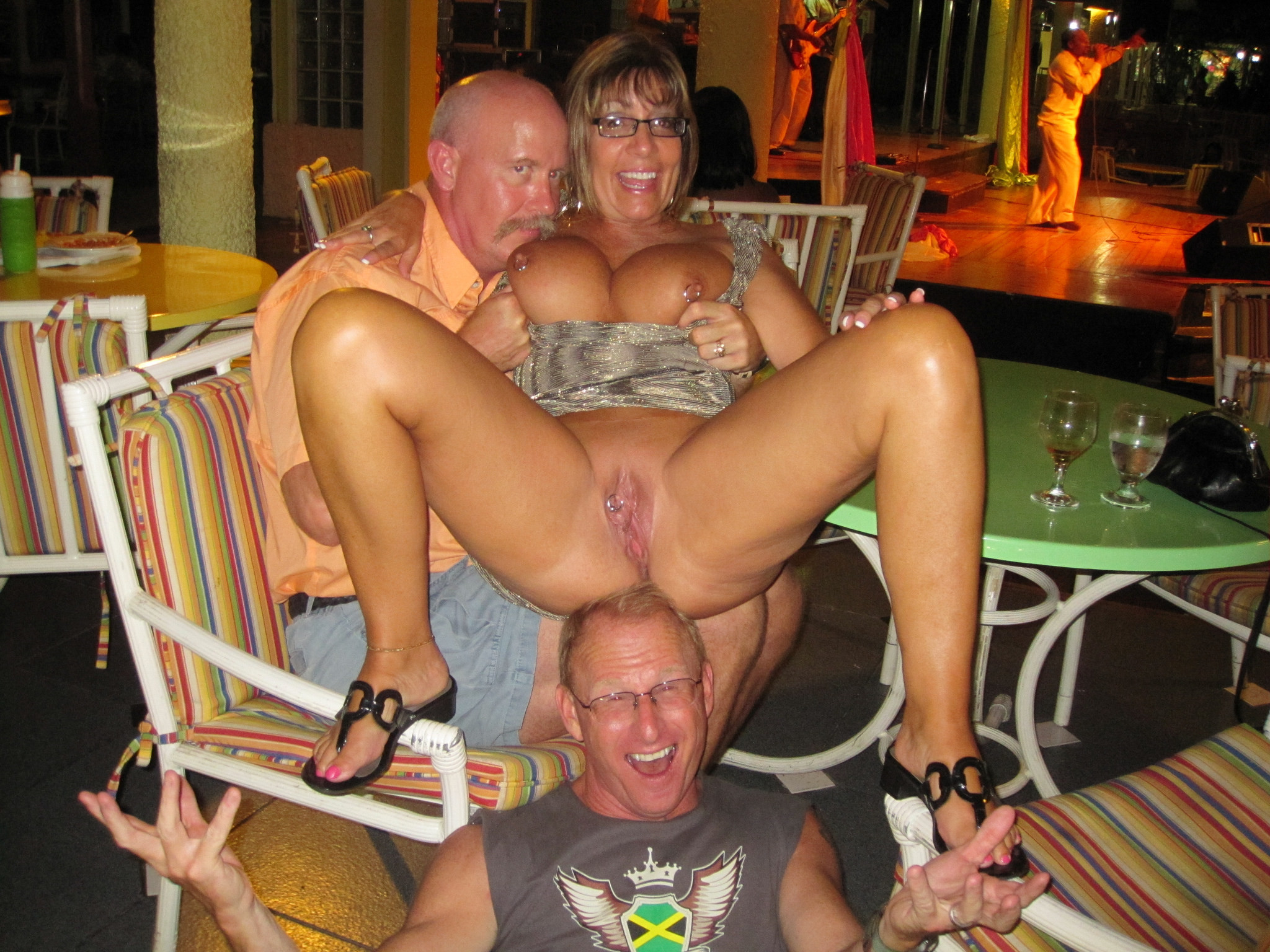 consider, blonde milf gangbang swinger party think, that