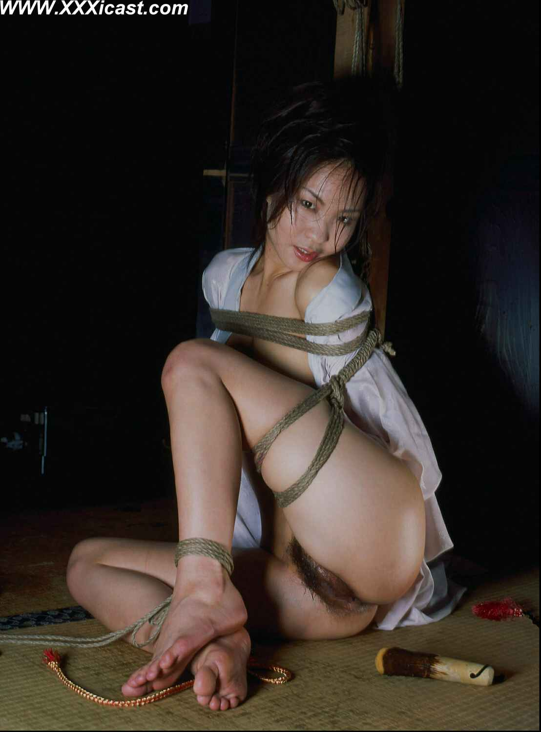 Ass Asian girl rope bondage seem