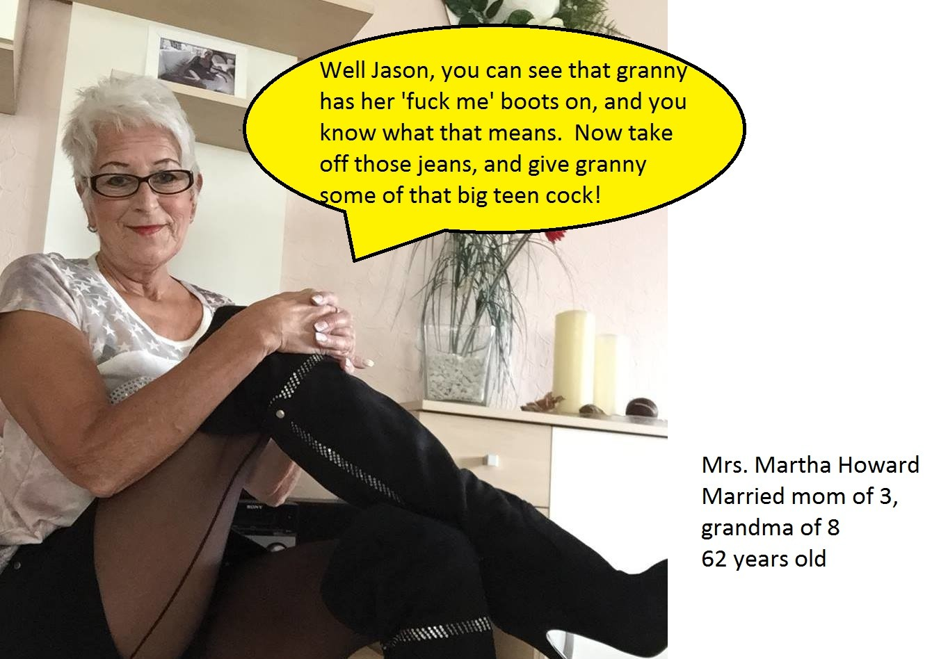 Captions slutty grandma