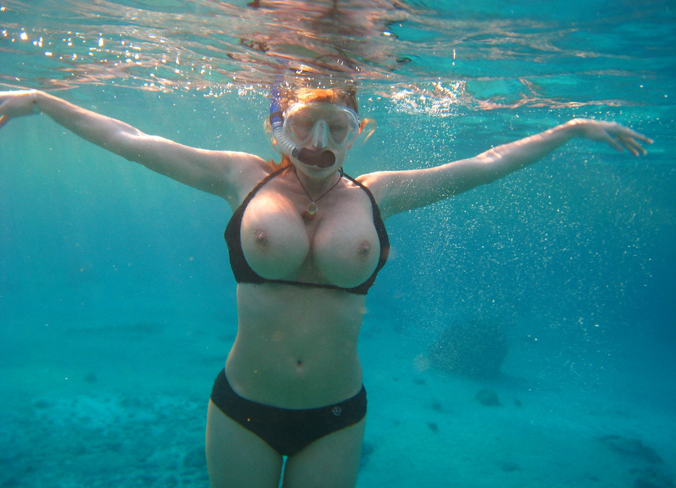 Think, Daughter swimming nude