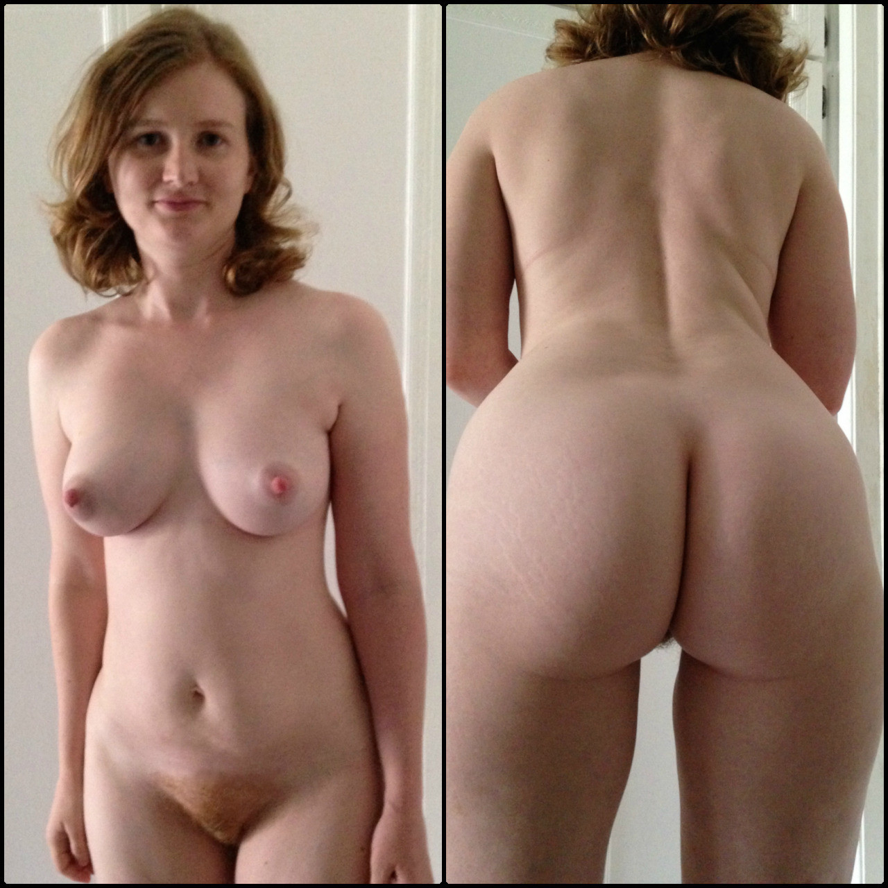 Redhead wife naked