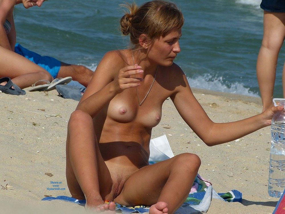 Public beach naughty nude