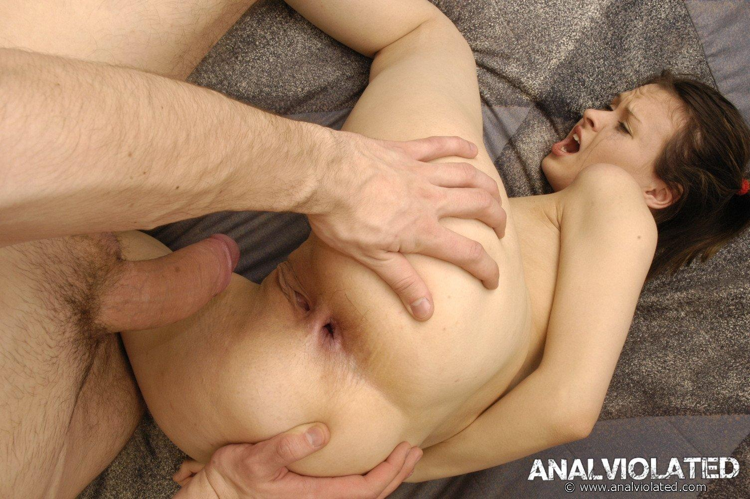 Forced anal sex flat on tummy 1