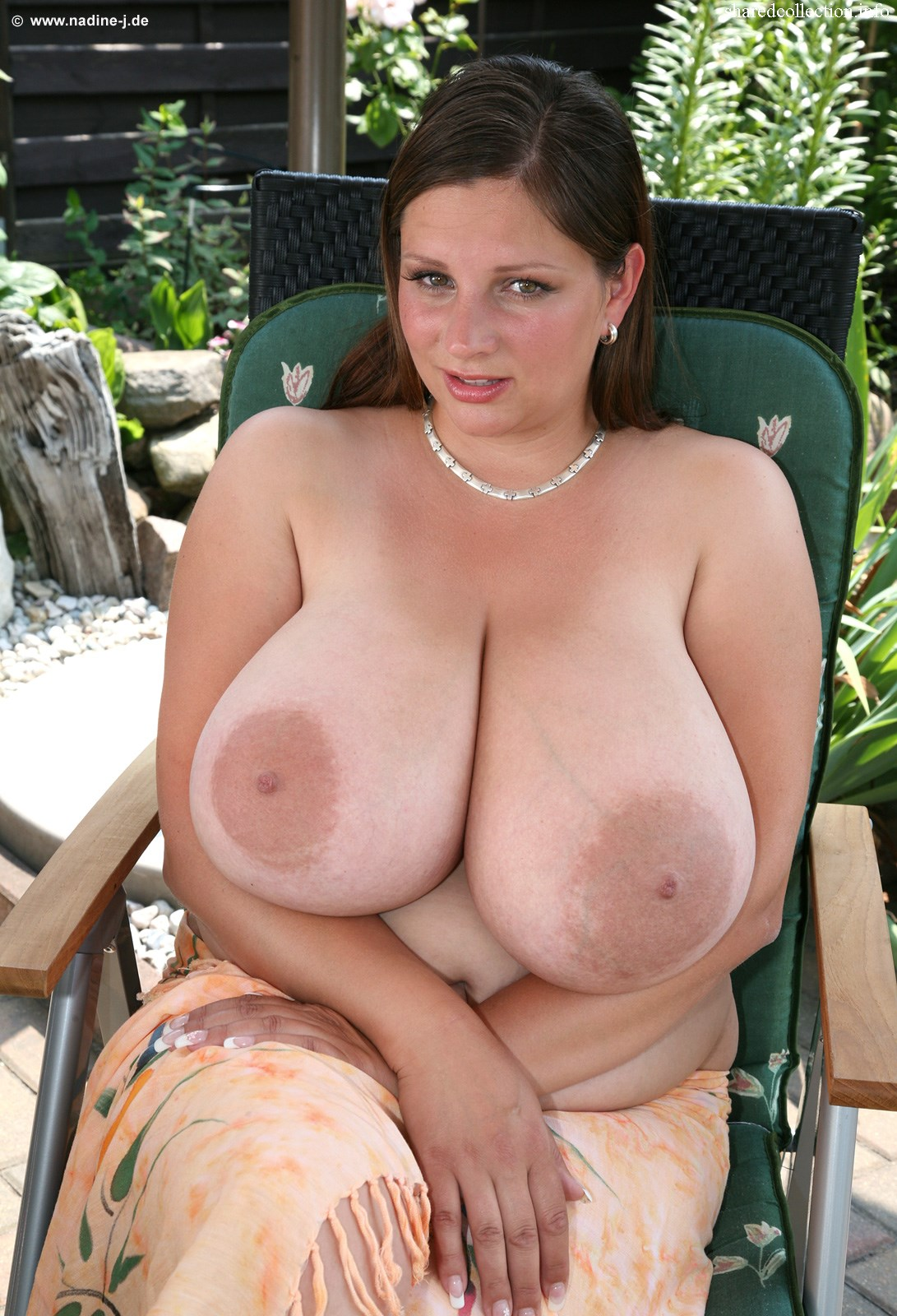 Very large natural breasts