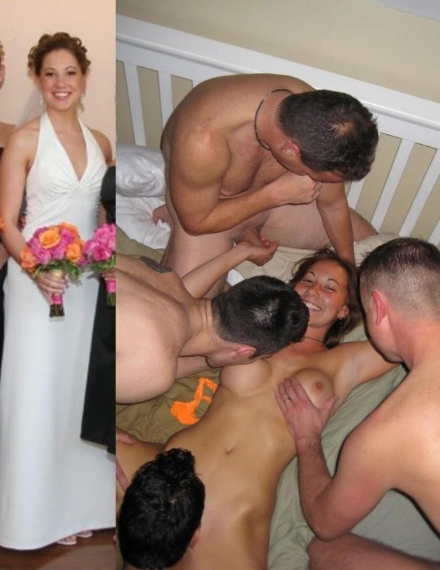 You Nude amateur bride dressed and undressed that