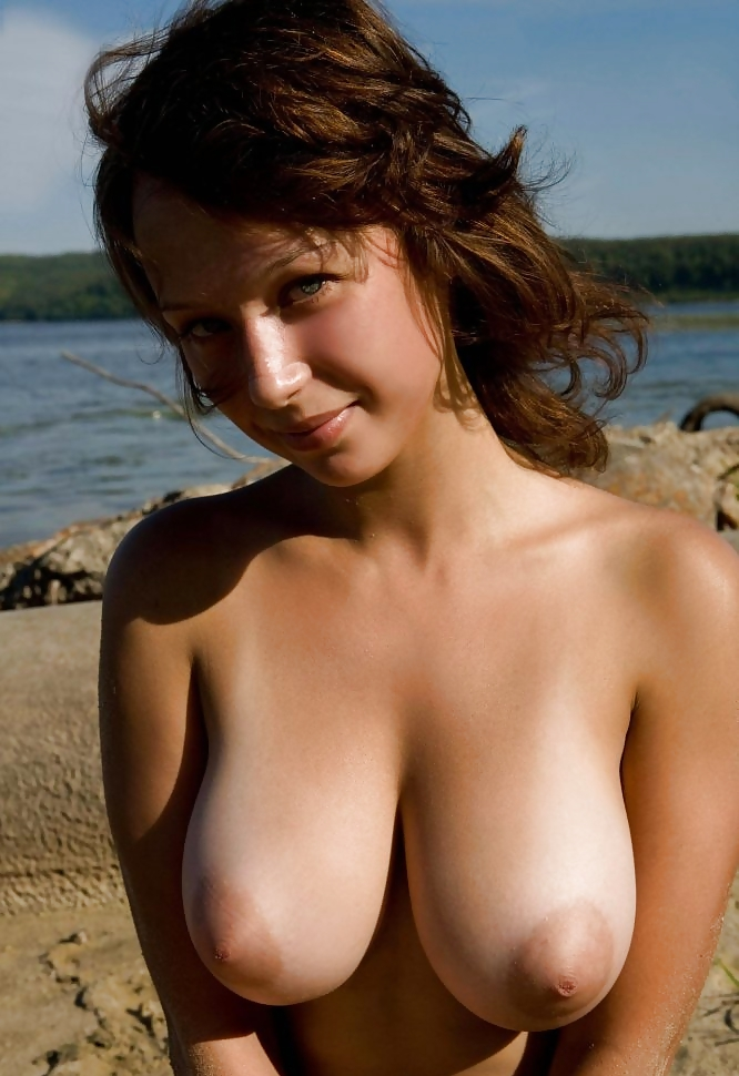Boobs beach big tits nude
