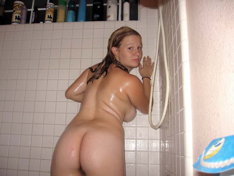 Female naked shower