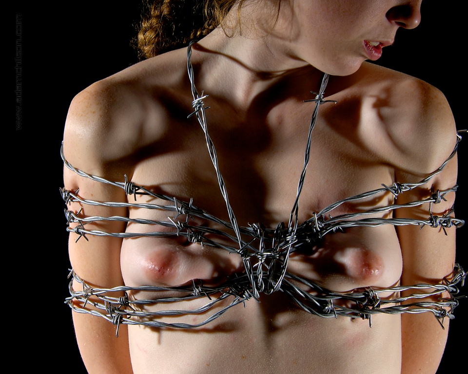 Barbed wire bondage porn