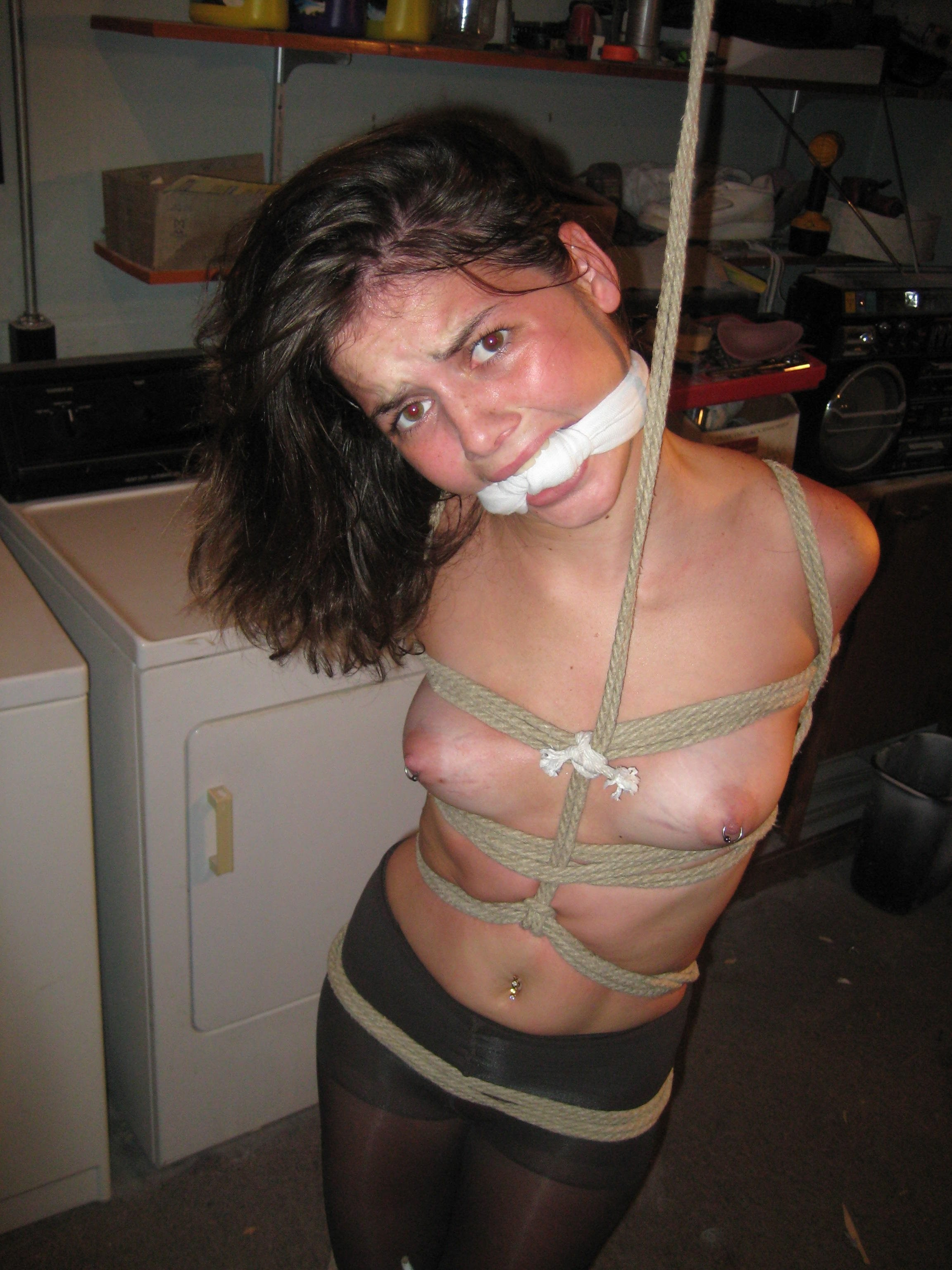 Charming amateur tied females many thanks