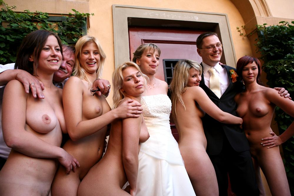 bride naked Bridesmaid nude