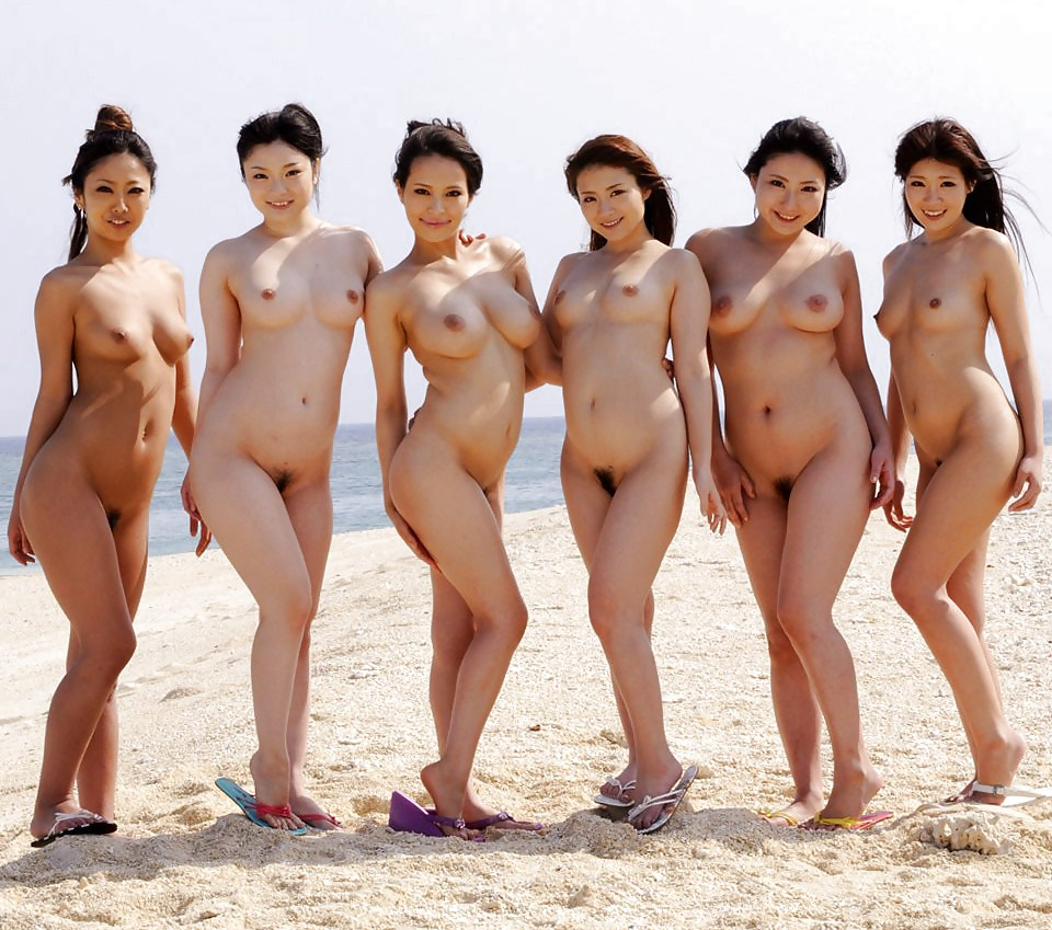 Naked asian group