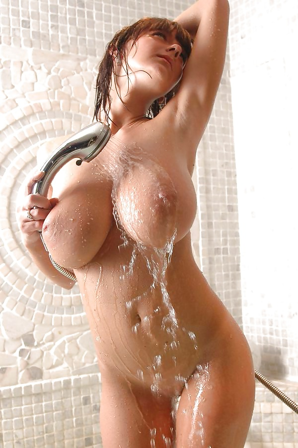 Sexy girls big boobs naked shower