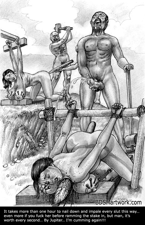 Cock and Extreme bdsm artwork UNA LINDA