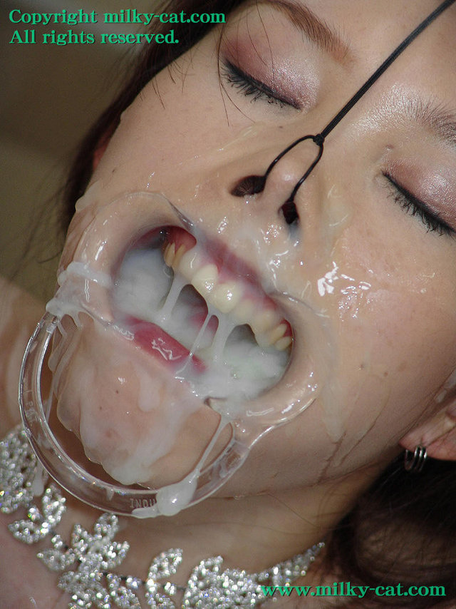 Bdsm cum mouth gag