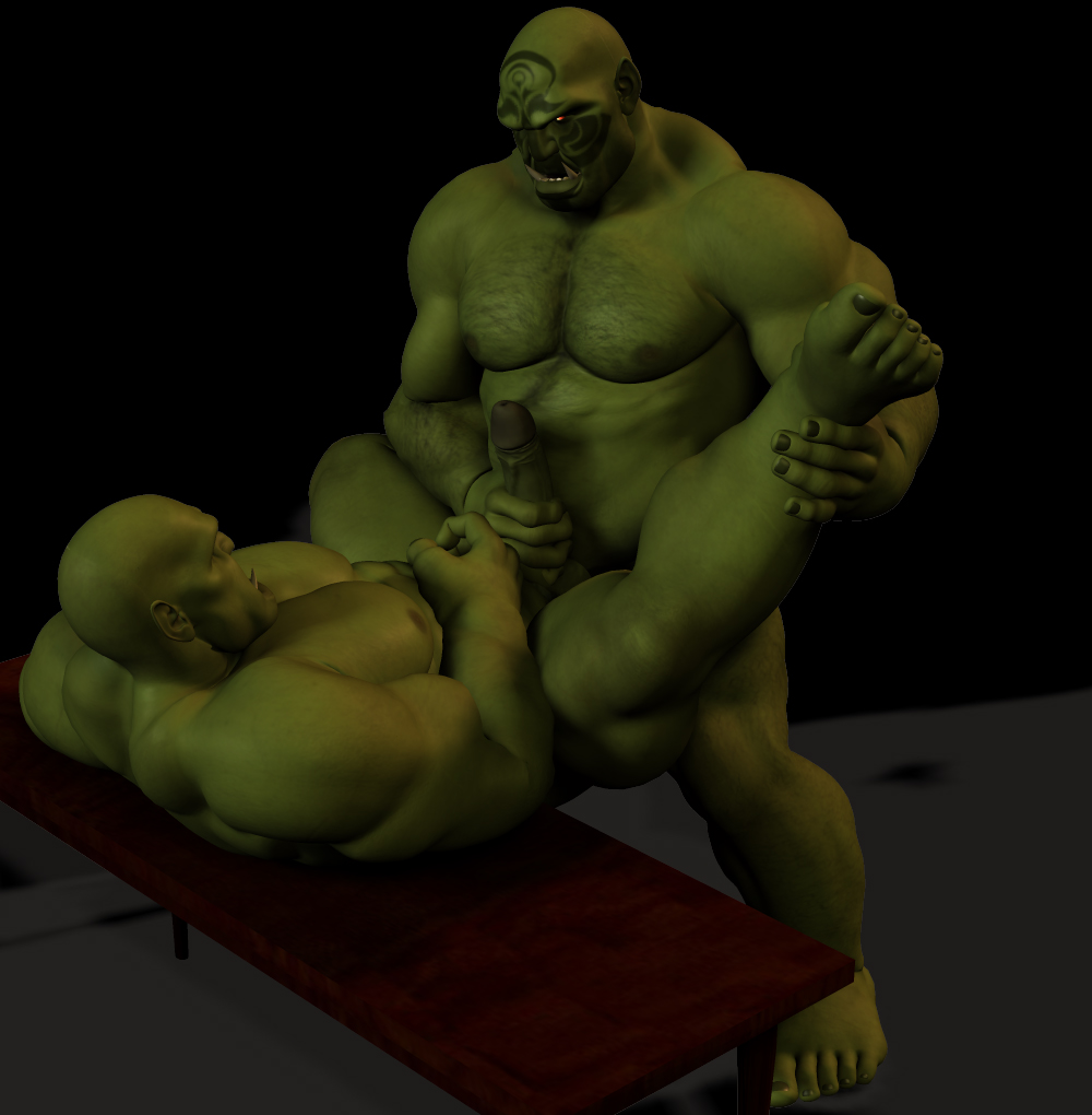 Gay Orc Porn - Sexy 3d Gay Orcs by a great 3d artist www.furaffin