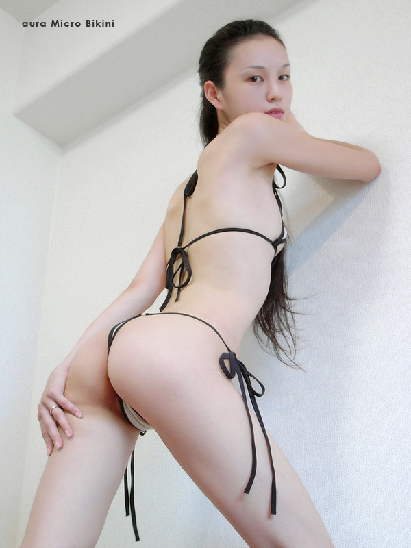 Aura asian micro bikini model