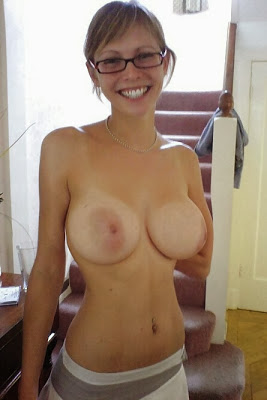 Breast tan lines