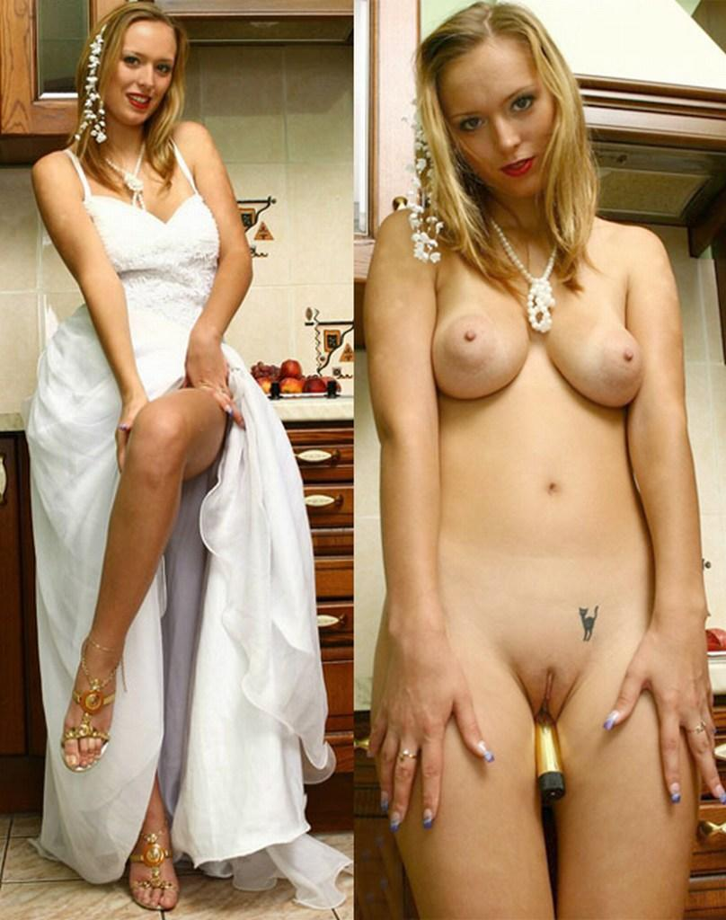 After nude brides before