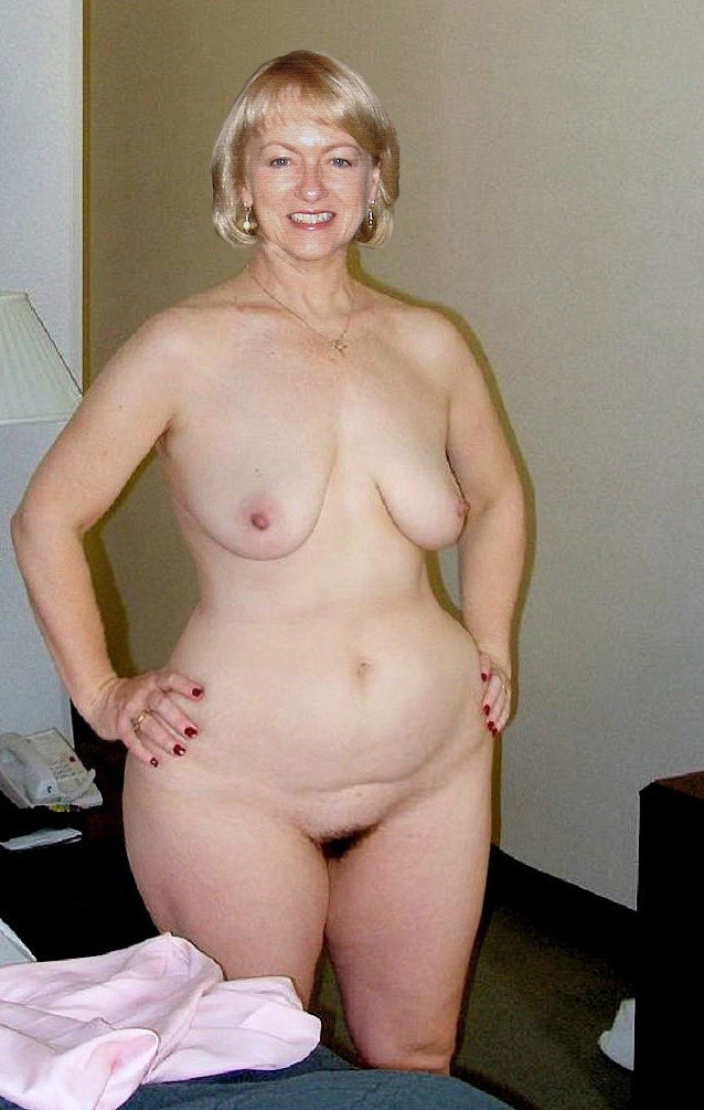 Nude mature wide hips