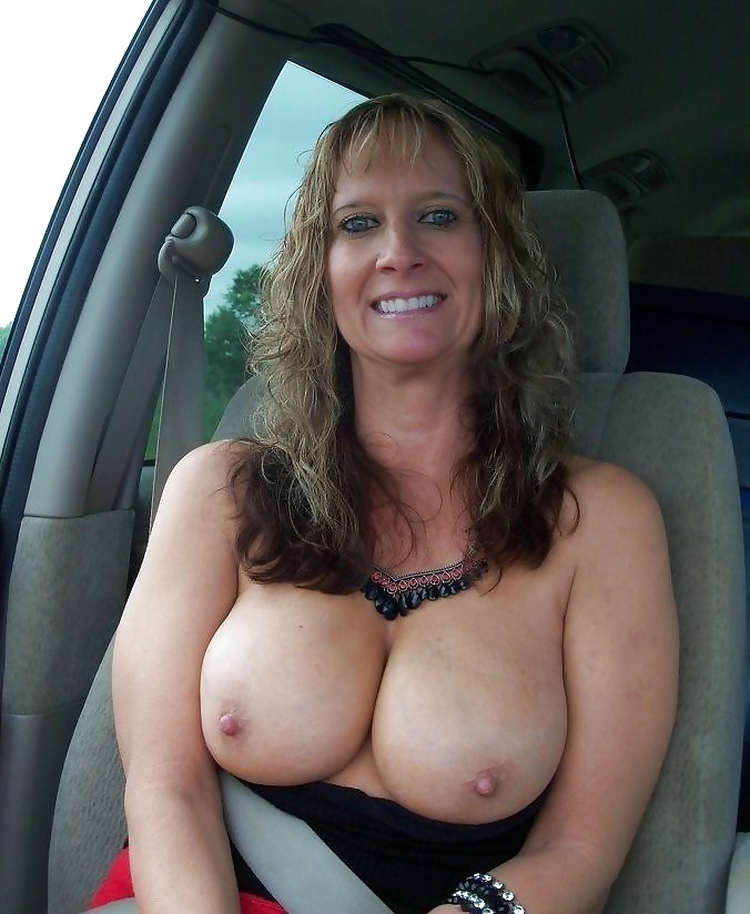 Busty young mom with boy