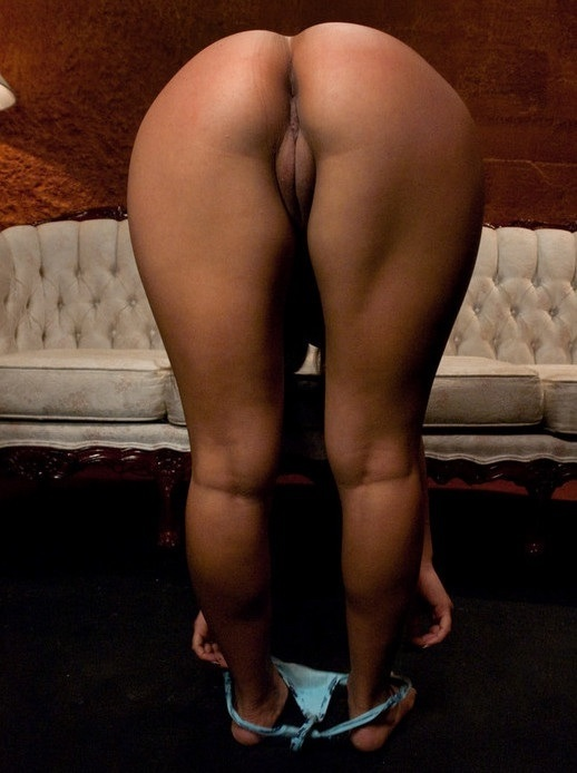 thick black girl bent over naked